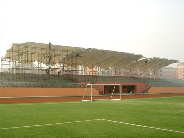 佰特膜结构看台客户-扬州工业学院