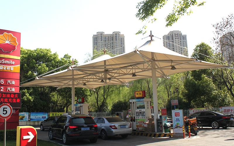加油站膜结构雨棚