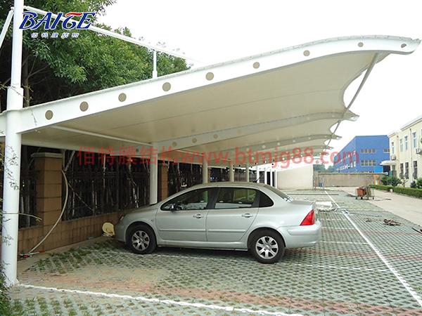 单挑膜结构车棚