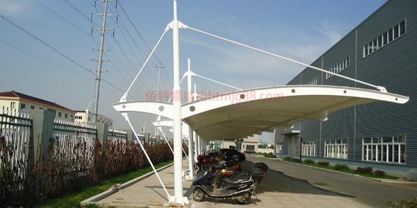 膜结构电动自行车车棚