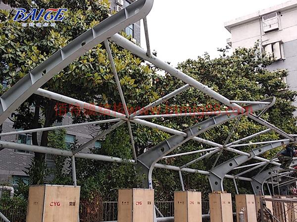 膜结构充电桩