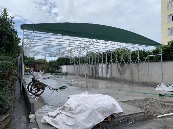 苏州市膜结构停车棚设计施工 推拉蓬 推拉篷 推拉棚