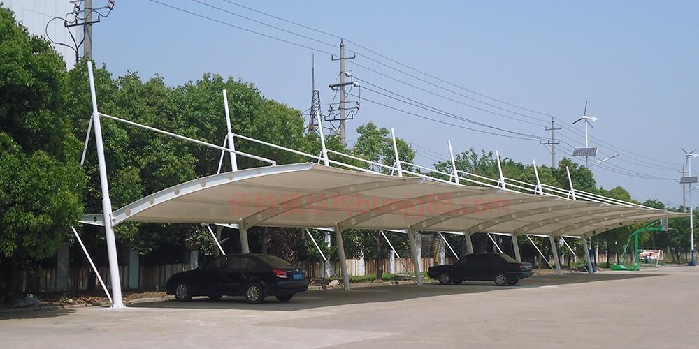 宜兴市膜结构车棚 推拉蓬车棚 推拉棚 膜结构