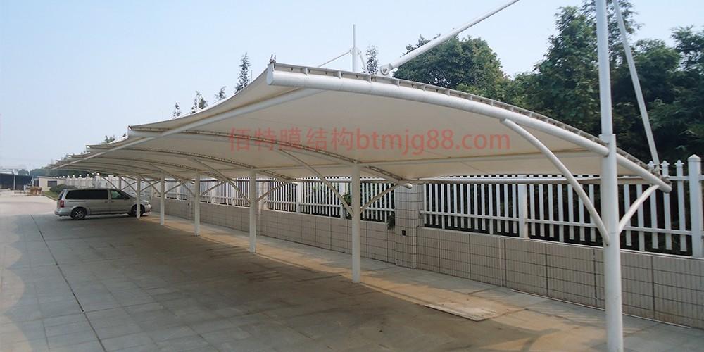 宿迁市车棚设计施工 膜结构车棚