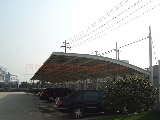 佰特膜结构车棚案例-江苏海峰能源科技有