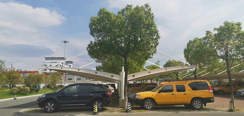 金坛电力公司膜结构汽车棚