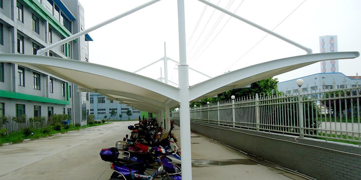 膜结构自行车车棚