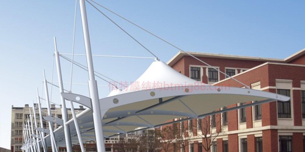 扬州膜结构车棚--扬州佰特膜结构车棚厂家-13606119445