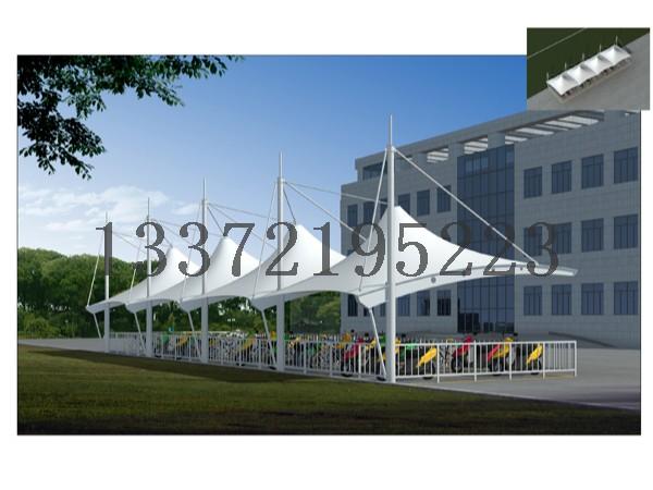 扬州电动停车棚|扬州推拉篷|扬州车棚-扬州佰特膜结构车棚厂家