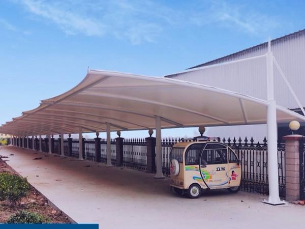 车棚膜结构车棚