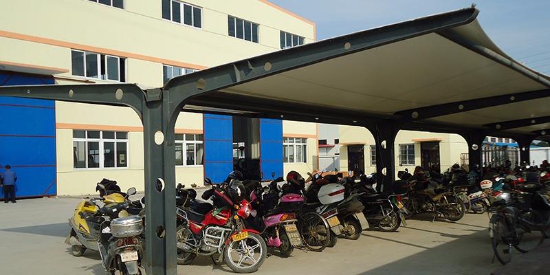 工厂膜结构自行车车棚